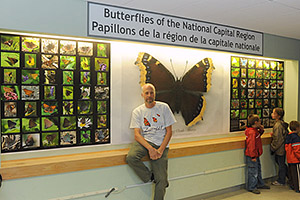 Butterfly                     Wall at Carleton with Rick Cavasin - Oct. 2011